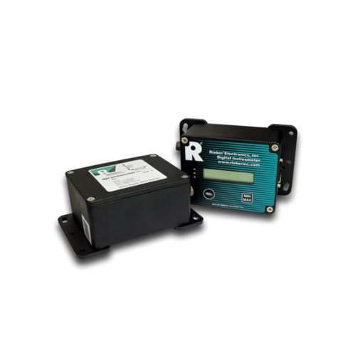 The RDR Remote Inclinometer Package is an extension of the RDI Digital Inclinometer series. The package is supplied as a calibrated set featuring an environmentally sealed inclinometer and LCD. This is a semi-custom built-to-order unit.