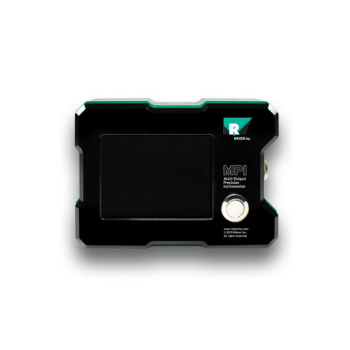 The MPI Touch Screen Multi-Output Precision Inclinometer displayed from the front with the screen off.