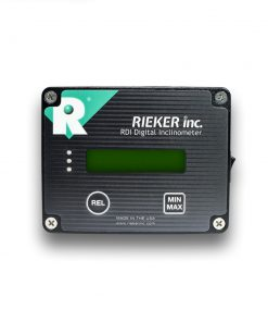 Our RDS3-45-09B electronic inclinometer is a ±45 degree single axis unit with a built in display. It operates on a 9V battery and has a 0.01 resolution LCD display.