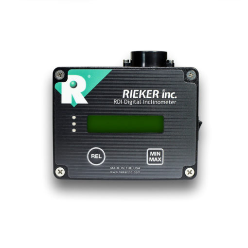 "An image of our RDS7-BB-09 Digital Inclinometer. The RDS7-BB Digital Ball Bank Indicator has been the DOT adopted standard electronic measuring device for determining safe curve speed since the 1990's. The ""-09"" version allows the operator to adjust the trip angle setting to the appropriate angle as indicated in your State's adopted MUTCD (for setting safe curve speed based on road type and MPH)."