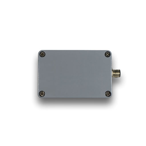 Image of an SB1i sensor unit - solid and compact pressure-cast aluminum housing with an integrated sensor for single axis inclination or acceleration measurements.