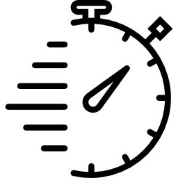 An icon image of a stopwatch.